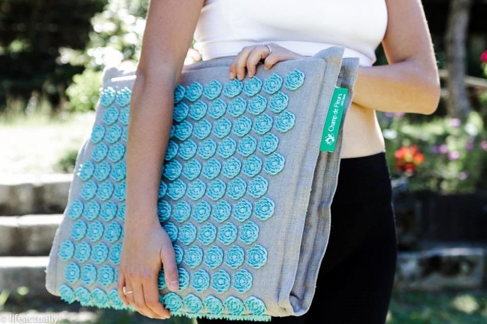acheter tapis champs de fleurturquoise